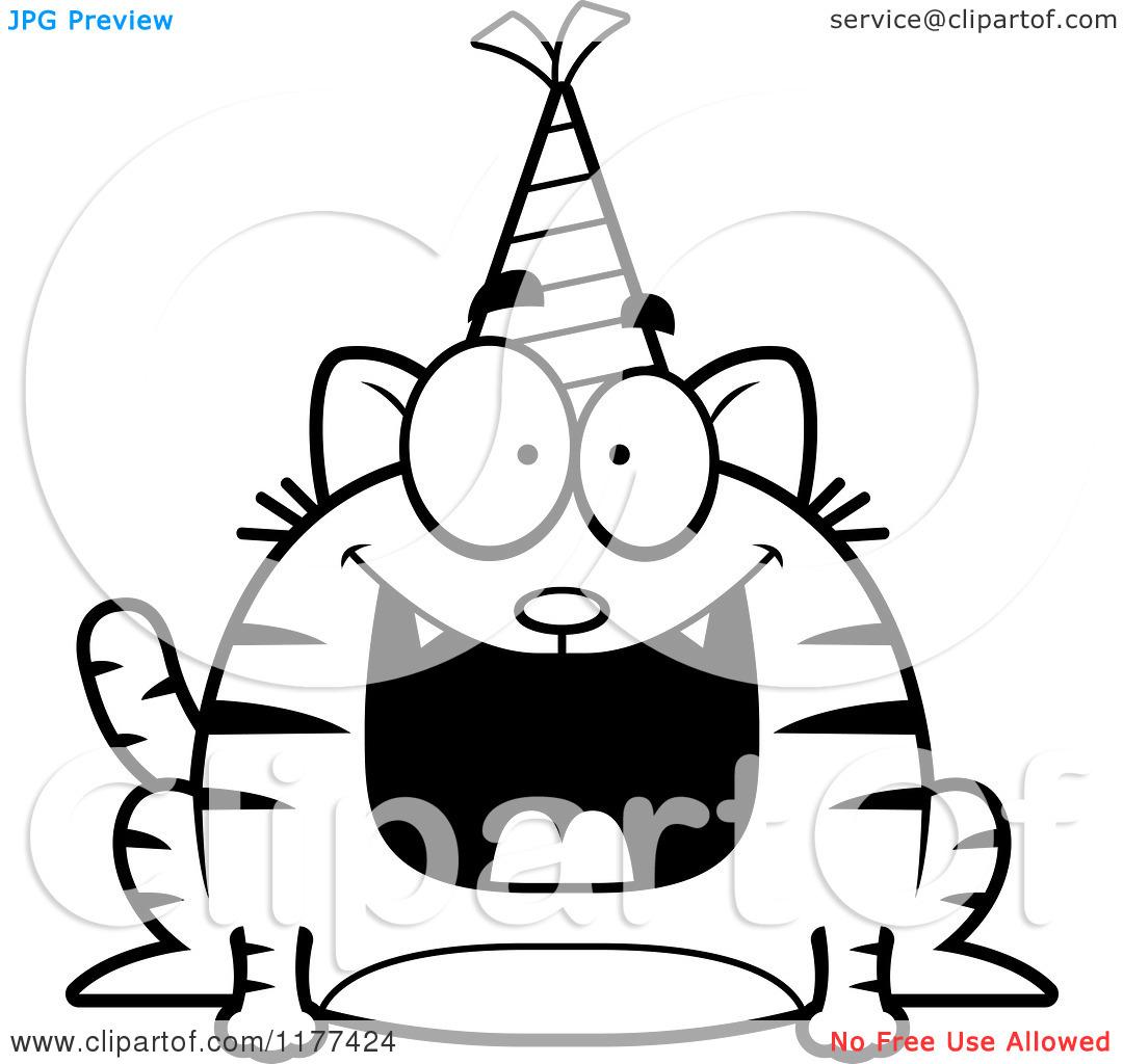 Happy Birthday Black And White Clipart Panda