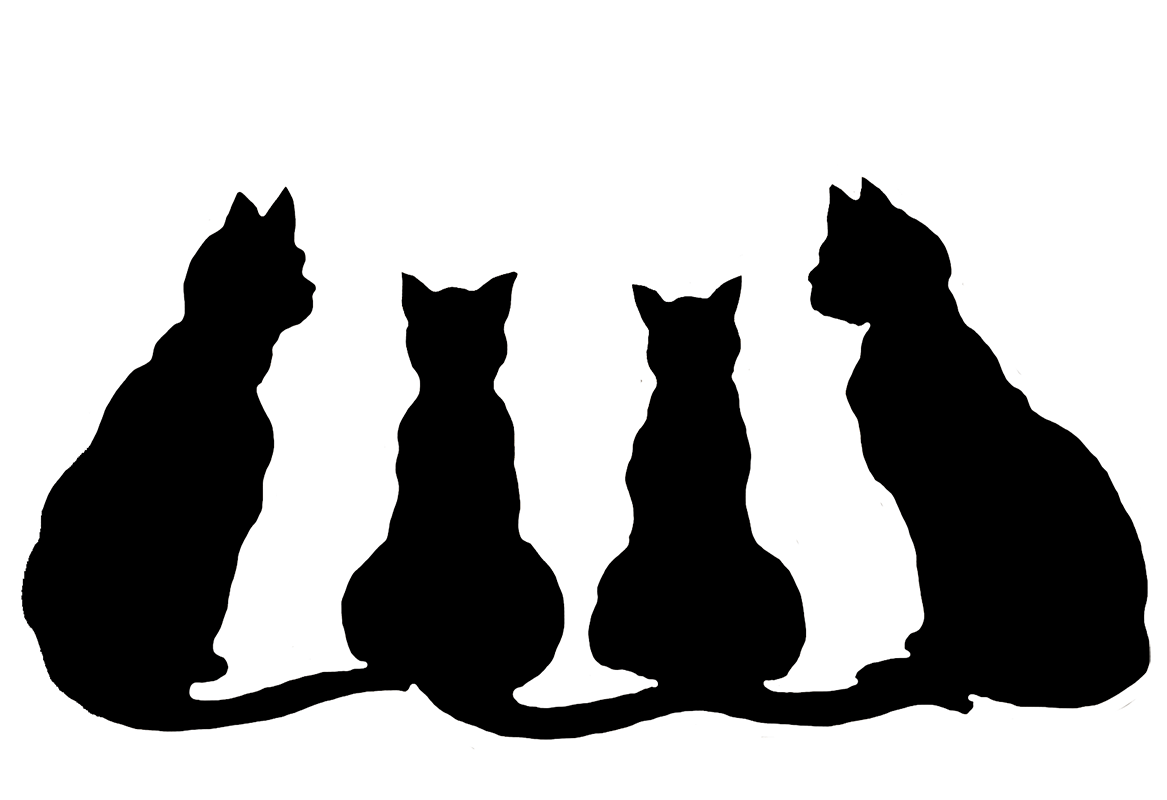 Cat black and white cat clipart black and white danaami2 top. Halloween Clip Art And White Clipart Panda Free Clipart Images