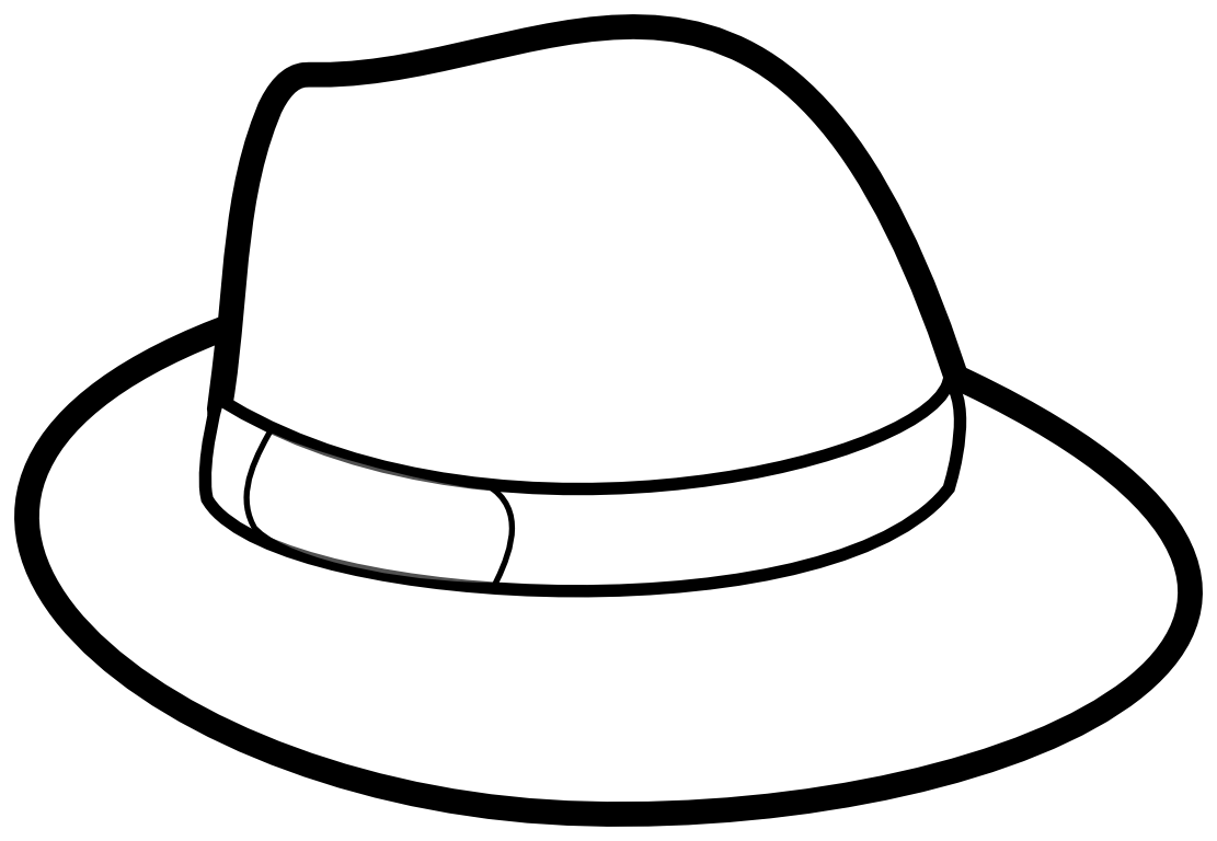 Hat Clipart Black And White Clipart Panda