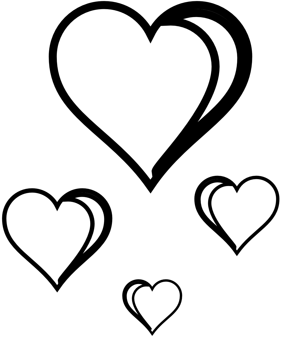 Heart Clipart Black And White Clipart Panda