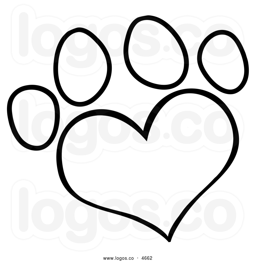 Tiger Paw Clipart Black And White Clipart Panda