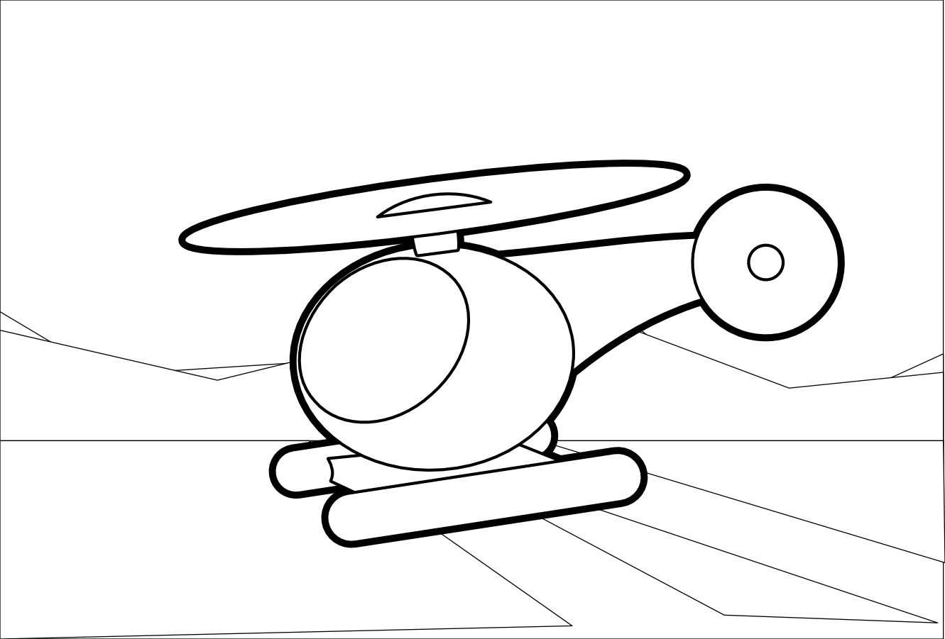 Helicopter Clipart Black And White Clipart Panda
