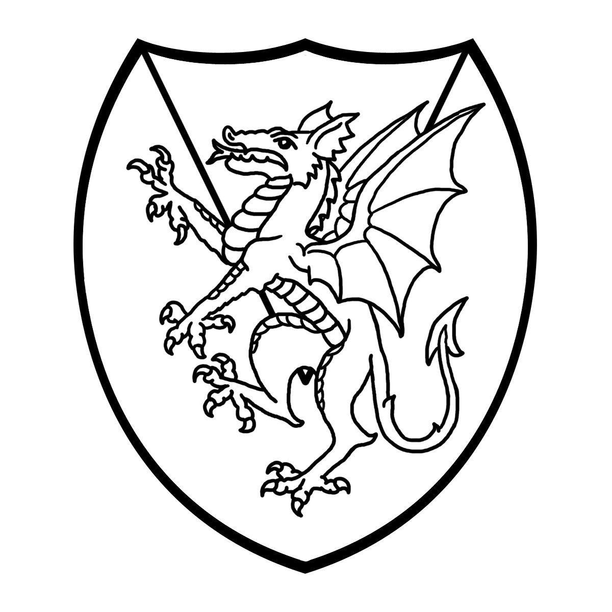 Knight Shield Clipart Black And White