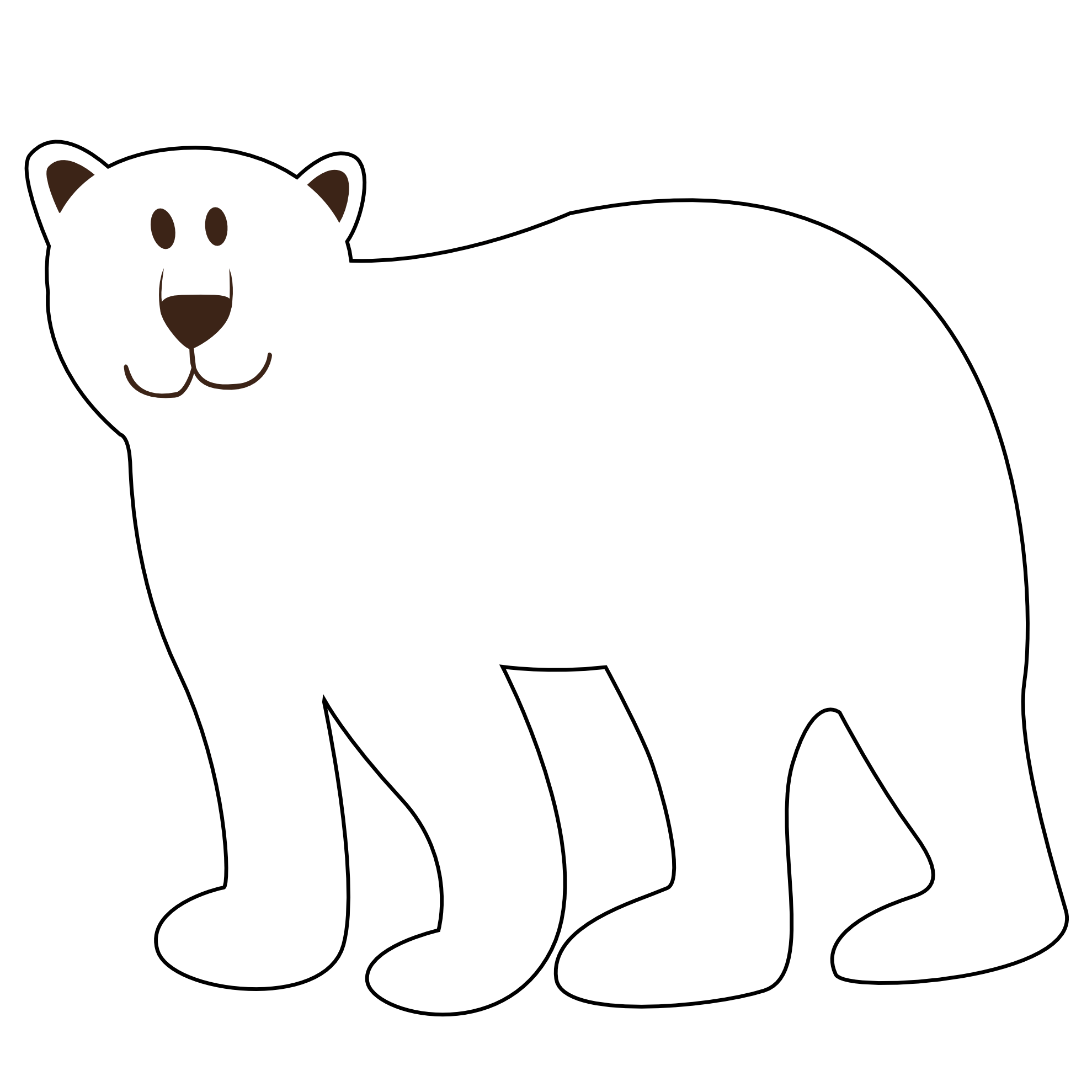 Bear With No Backround
