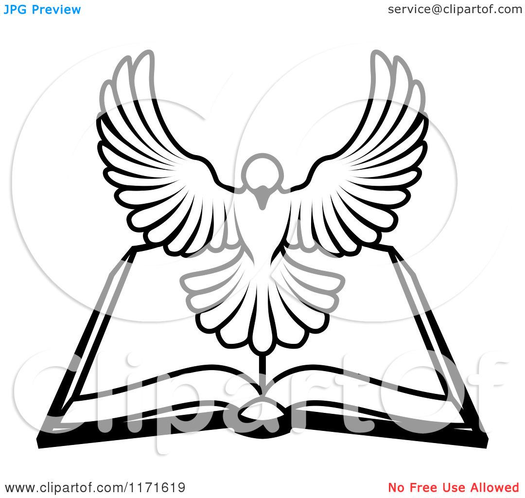 Holy Spirit Dove Clipart Black And White