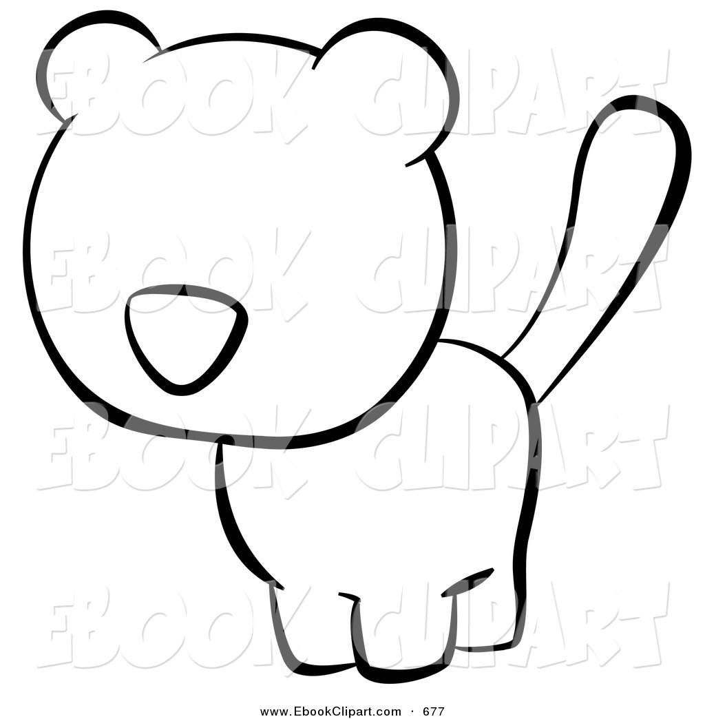 Kitty Clipart Black And White Clipart Panda