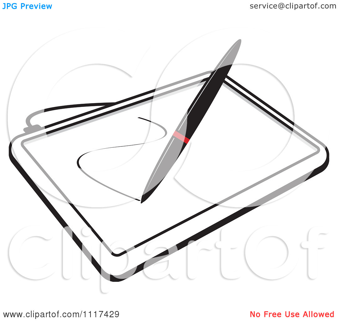 Tablet Clipart Black And White Clipart Panda