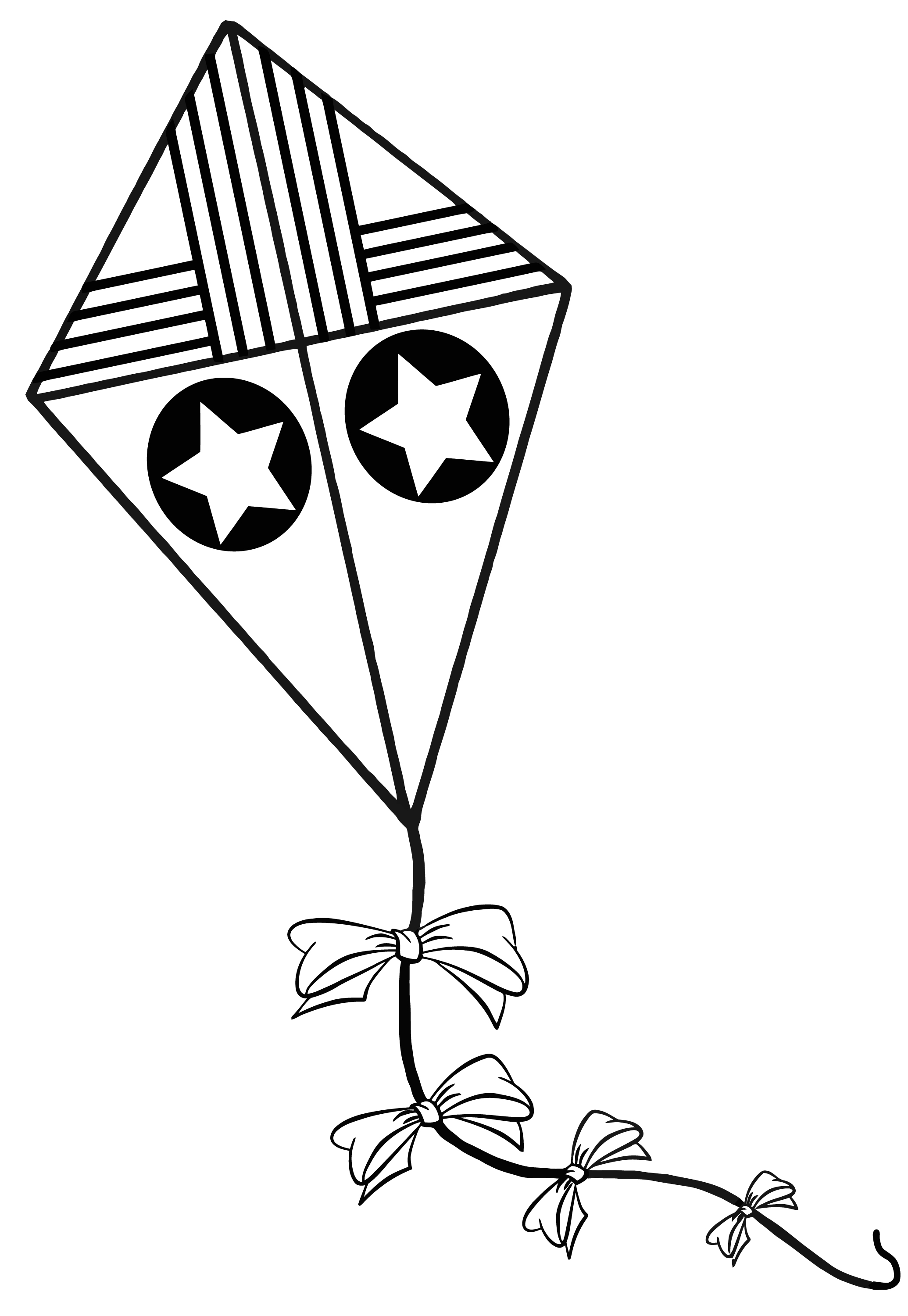 Kite Coloring Pages Clipart Panda