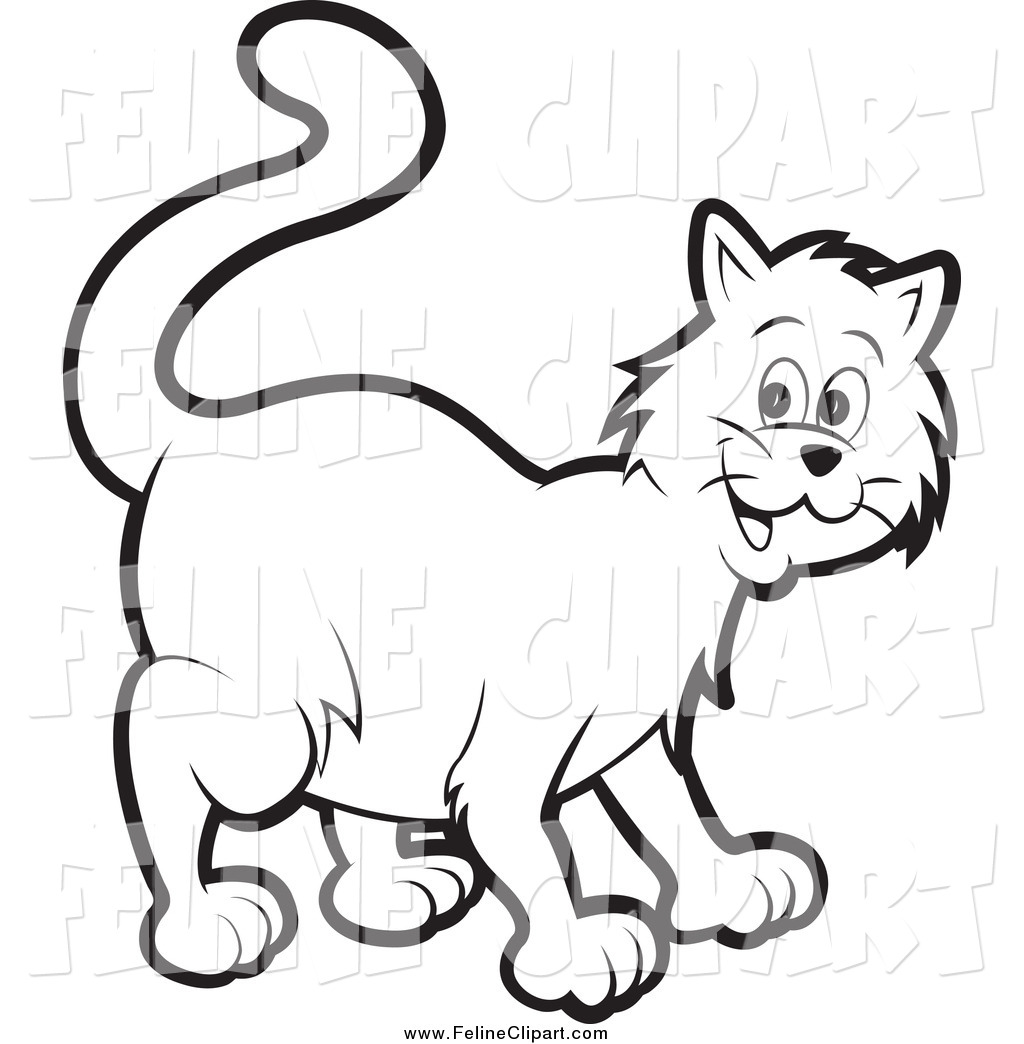 Cat Clipart Black And White Clipart Download