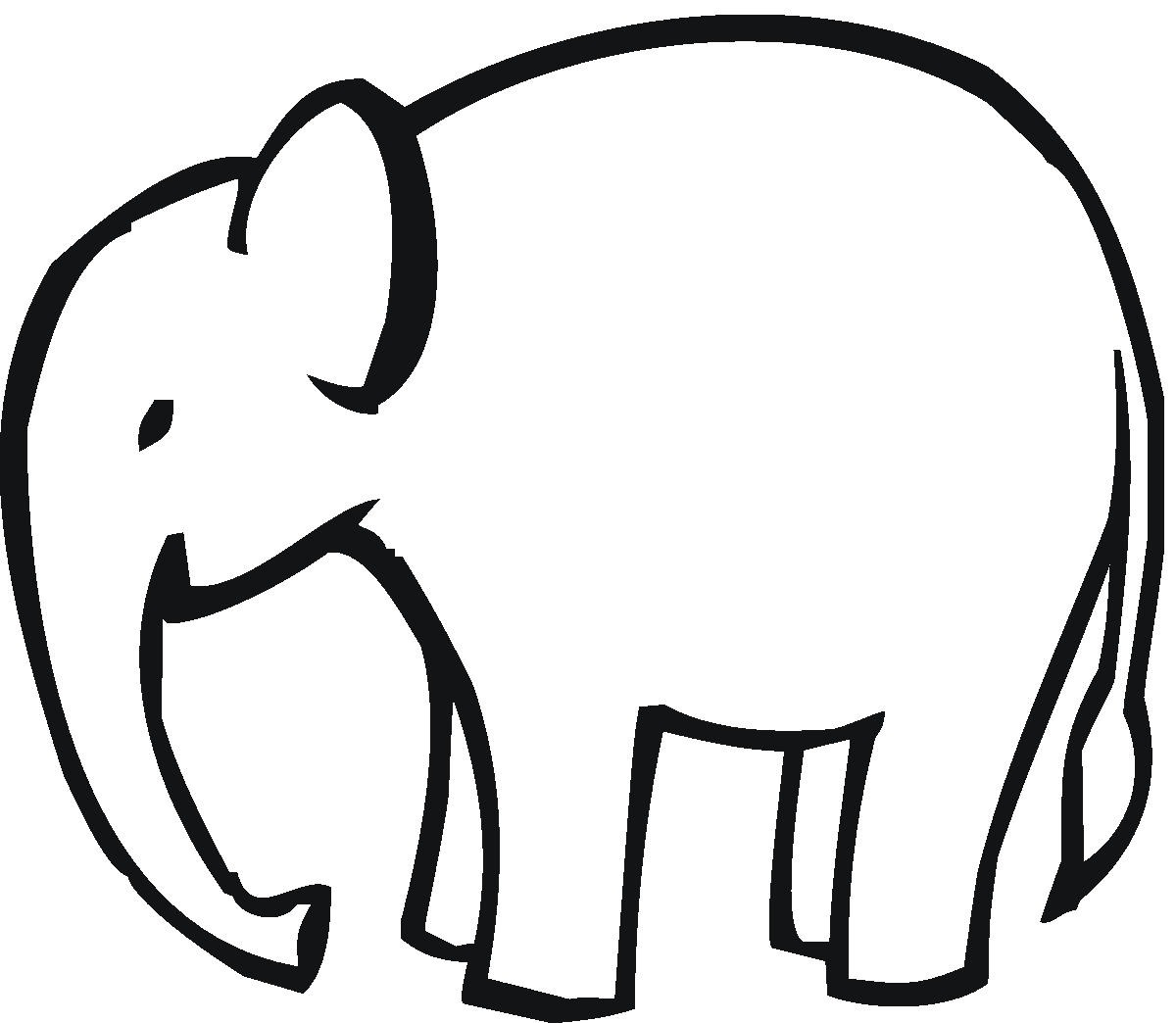 Baby Elephant Clipart Outline Clipart Panda