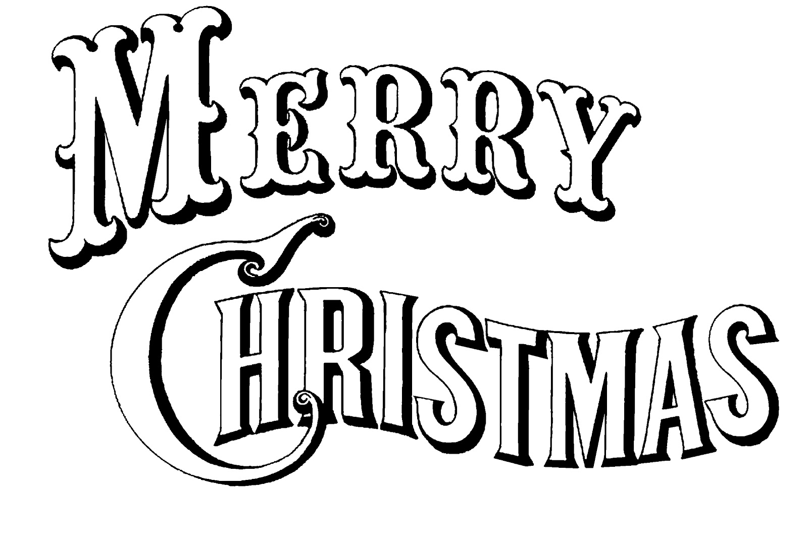 Merry Christmas Clip Art In Dxf Format