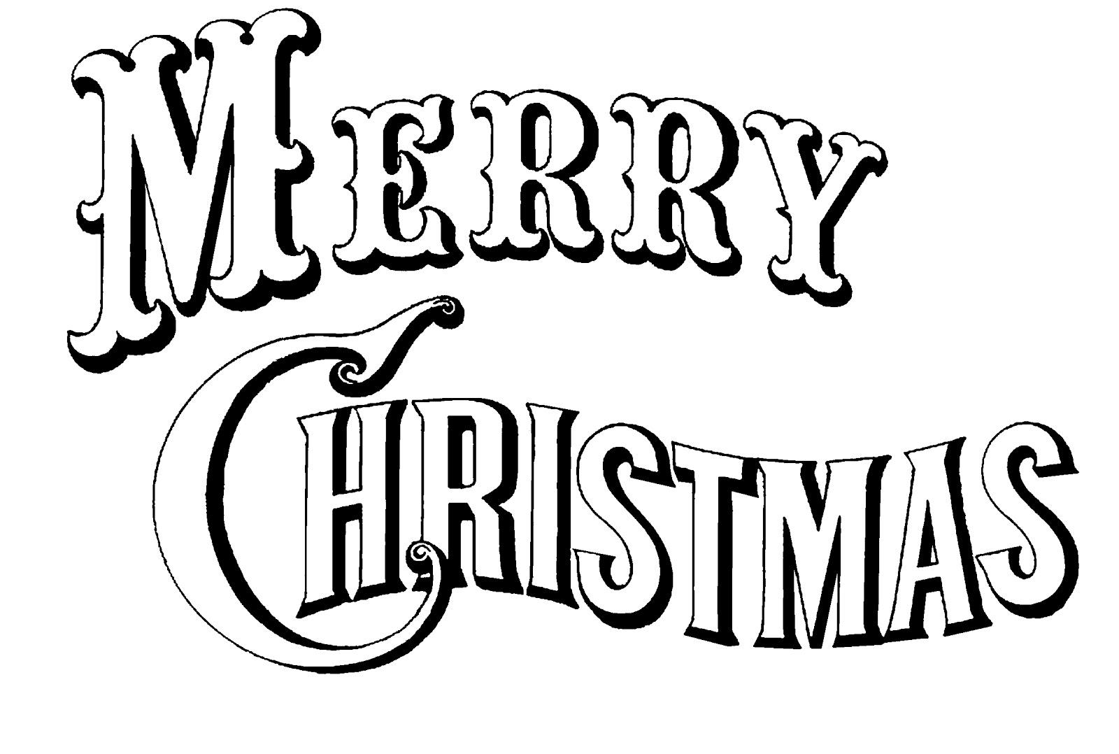 Merry Christmas Clip Art Calligraphy