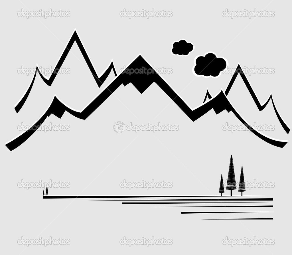 Mountain Silhouette Clip Art Cliparts
