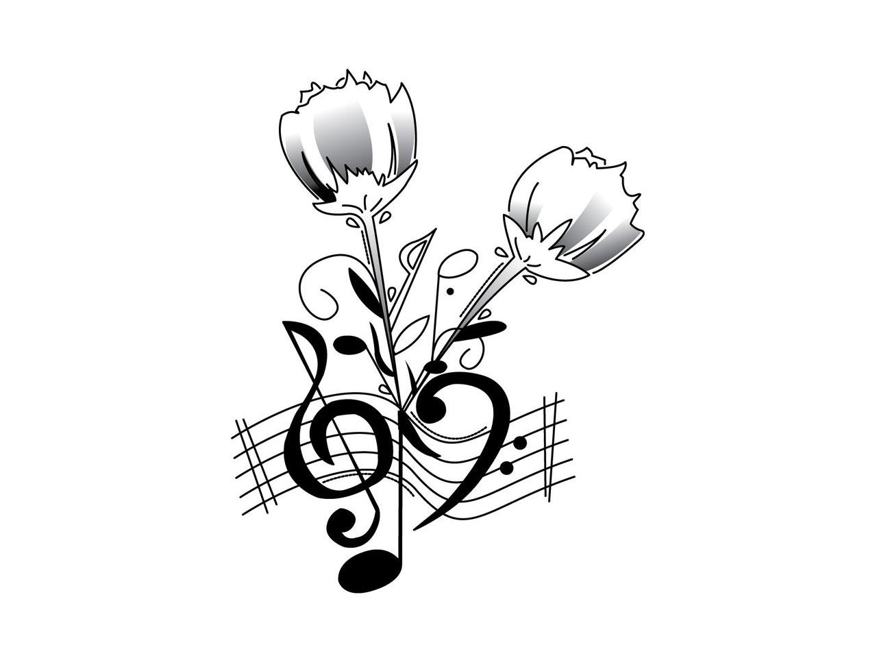 Music Notes Heart Beat Clipart Panda