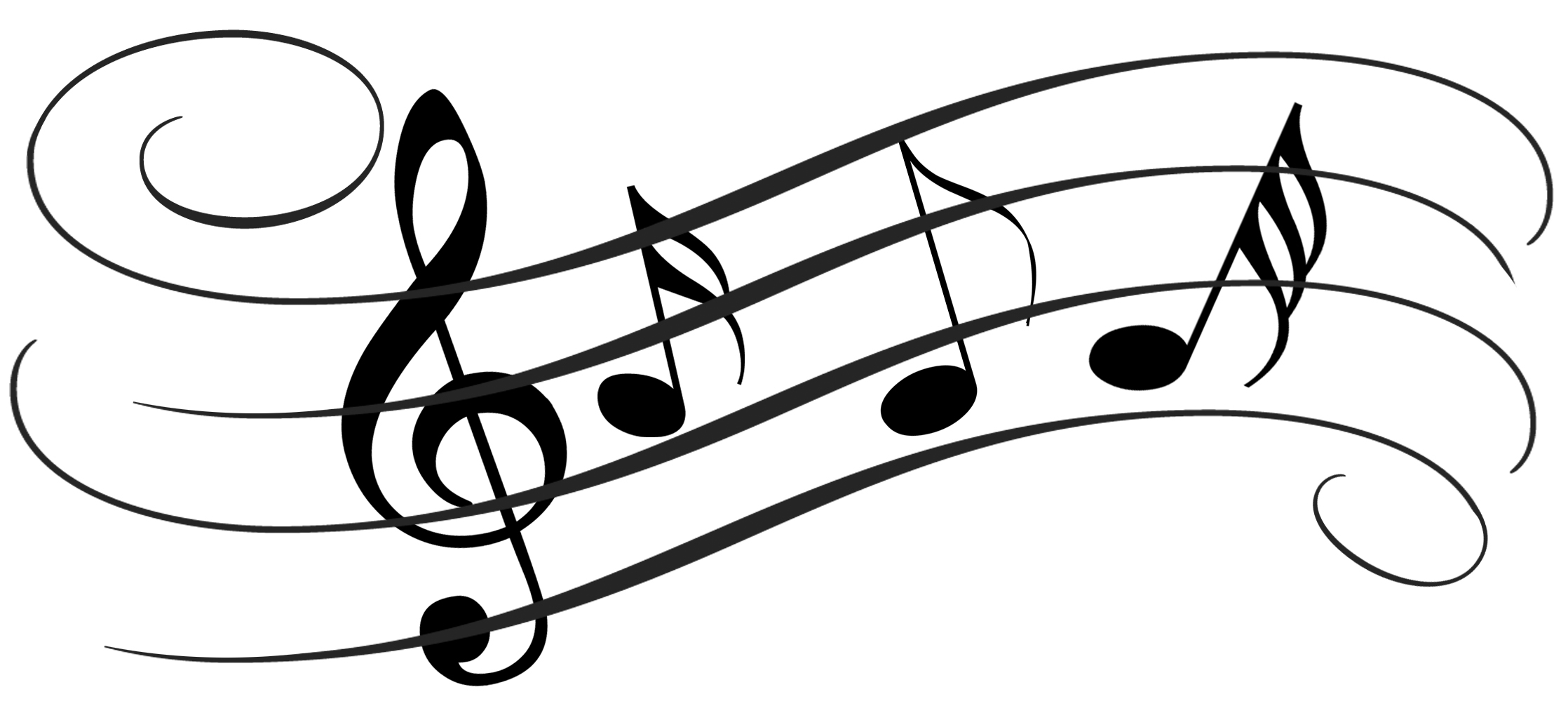 Music Notes On Staff Clipart Clipart Panda
