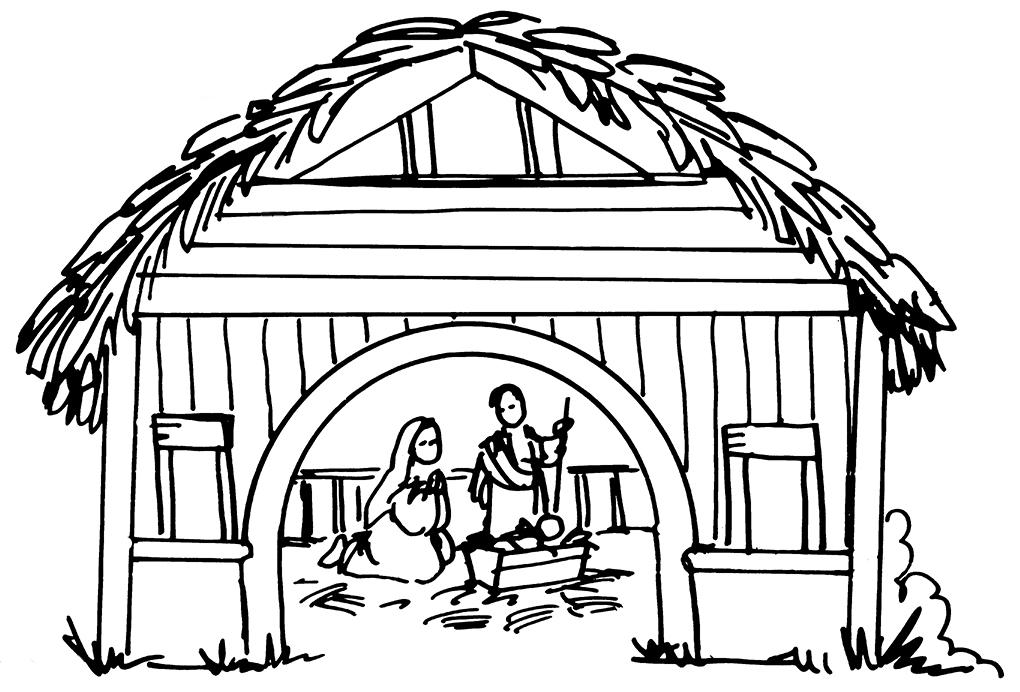 Black And White Hut Cartoons