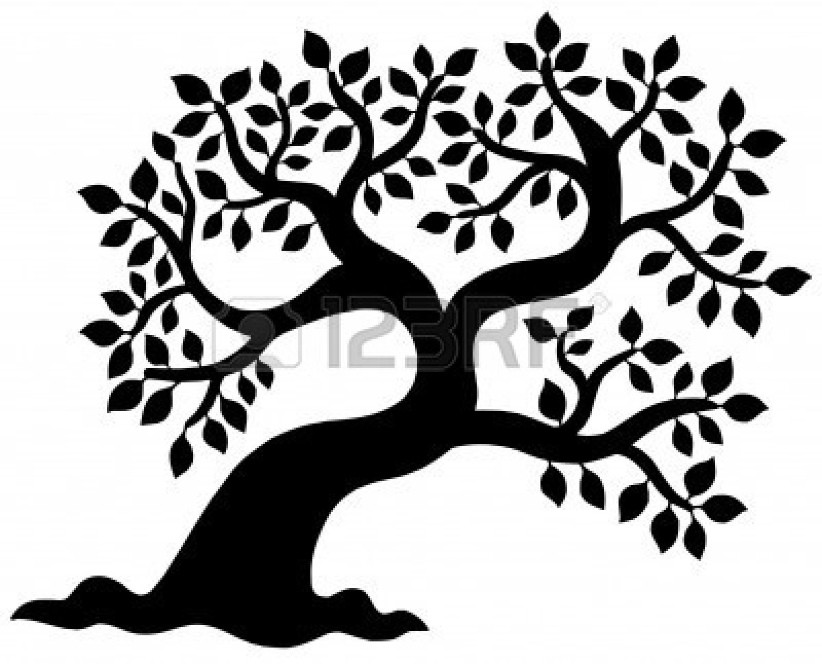 Oak Tree Silhouette With Roots Clipart Panda