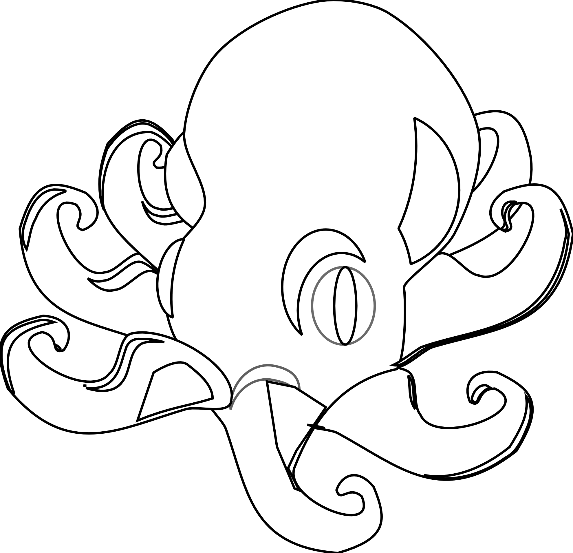Octopus Clipart Black And White Clipart Panda