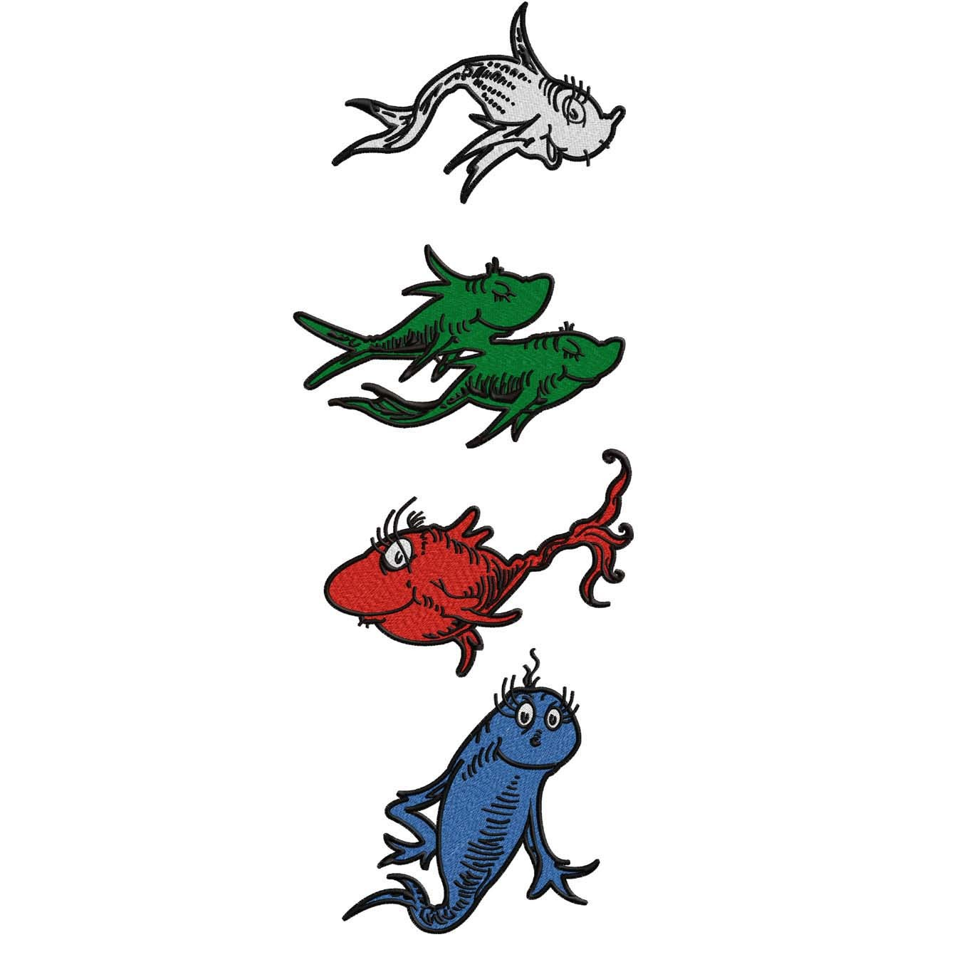 One Fish Two Fish Red Fish Blue Fish Clip Art