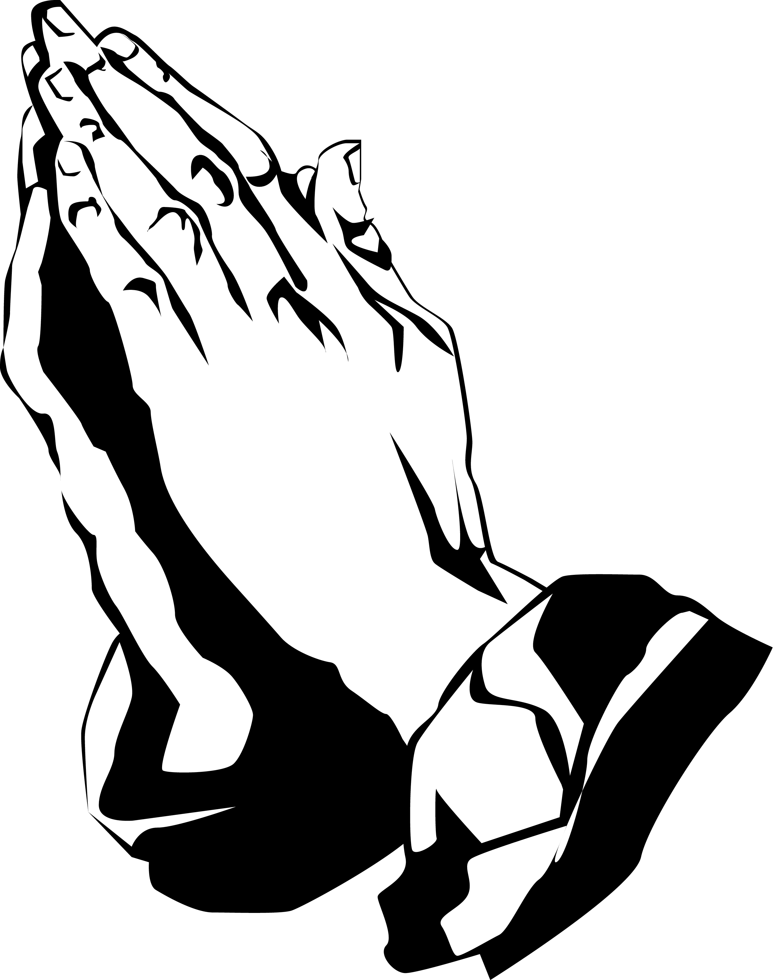 Open Praying Hands Clipart Clipart Panda