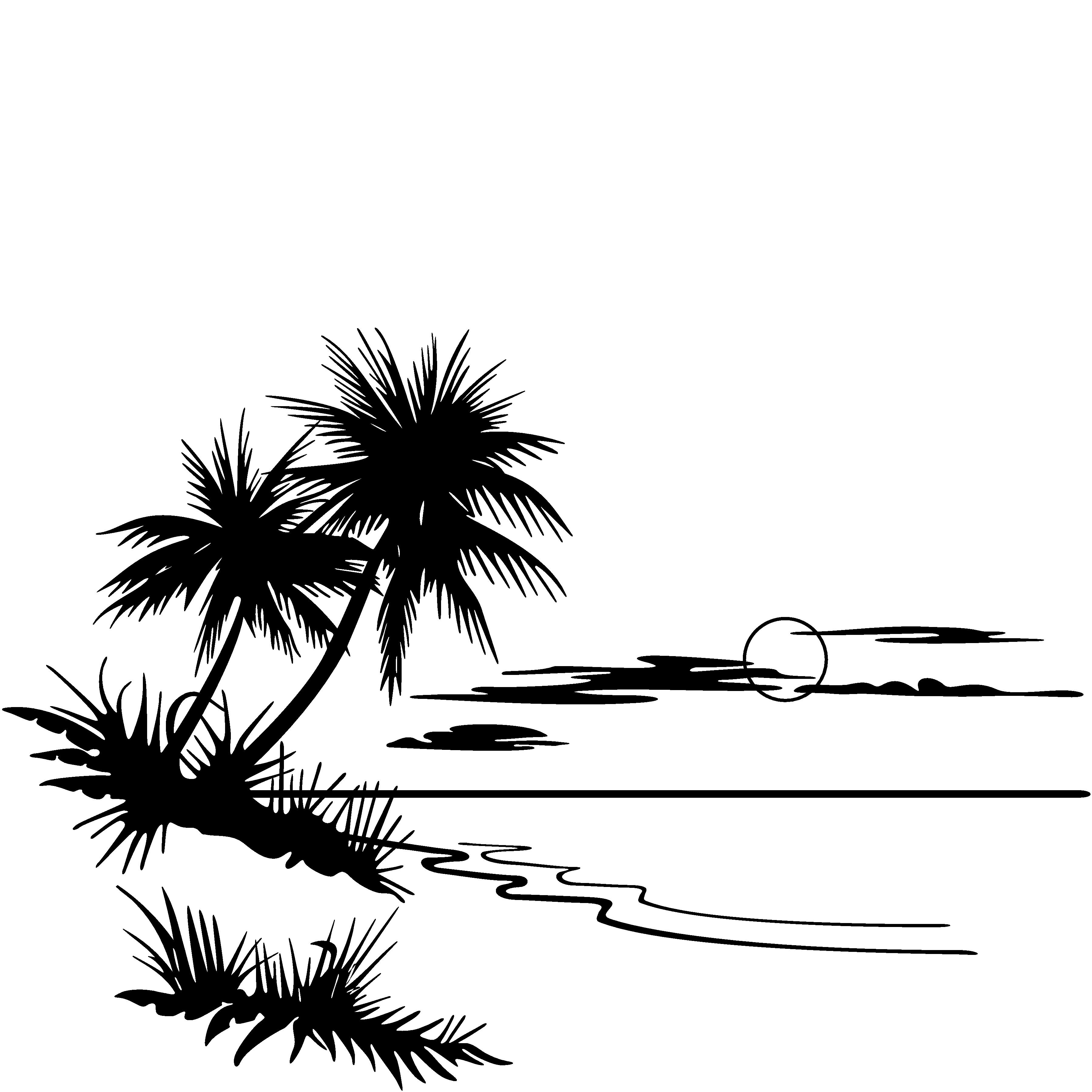 Sunset Clipart Black And White Clipart Panda