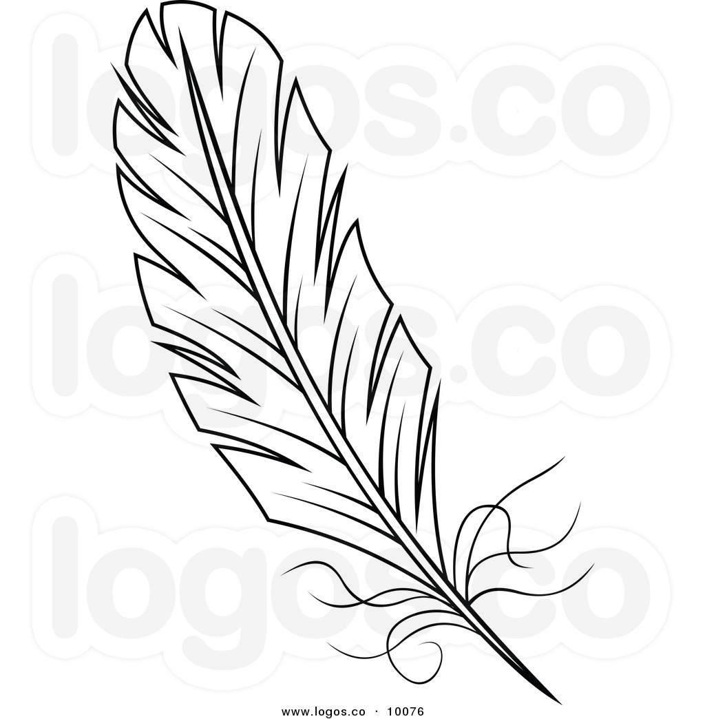 Peacock Feather Clipart Black And White