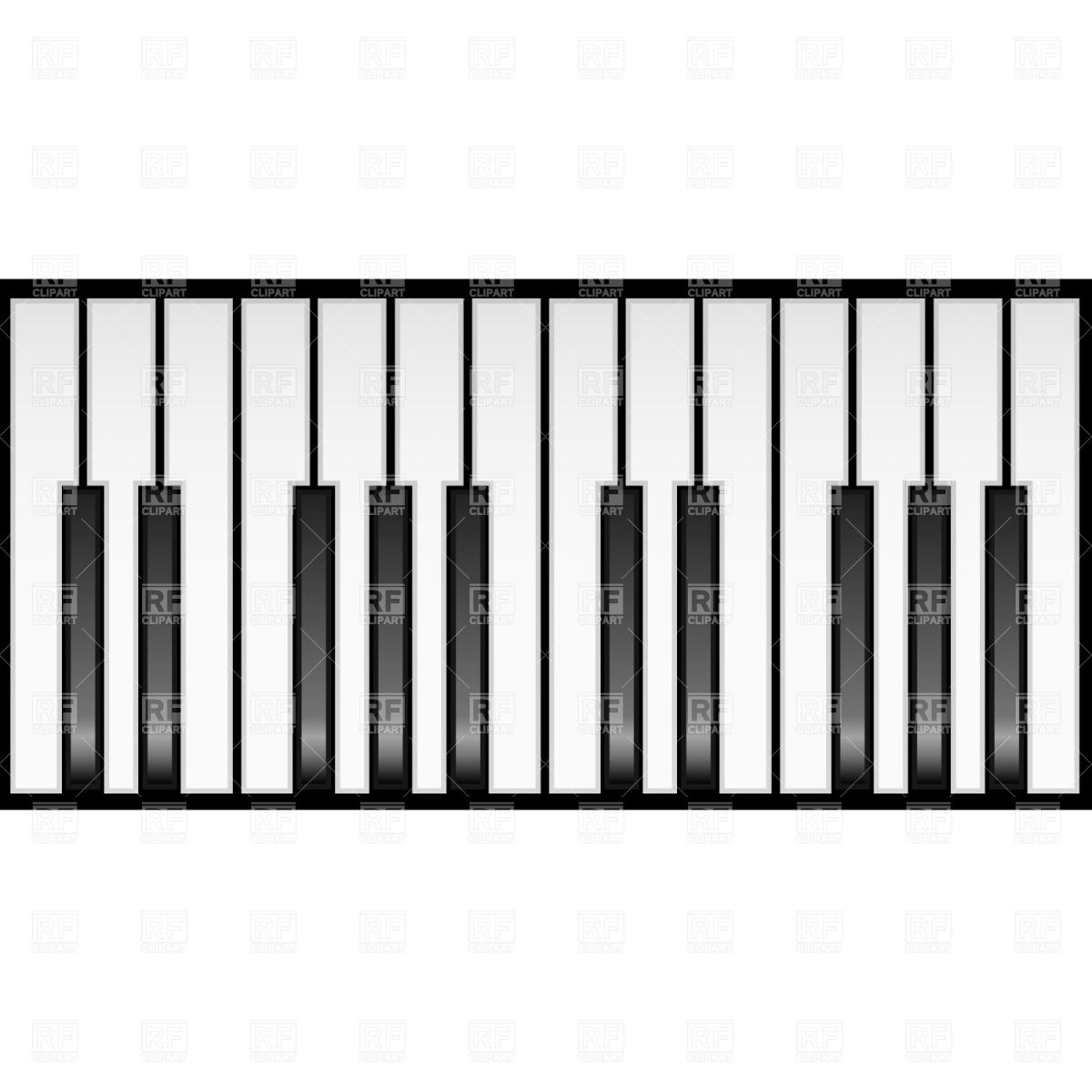 Piano Keyboard Clipart Black And White Clipart Panda