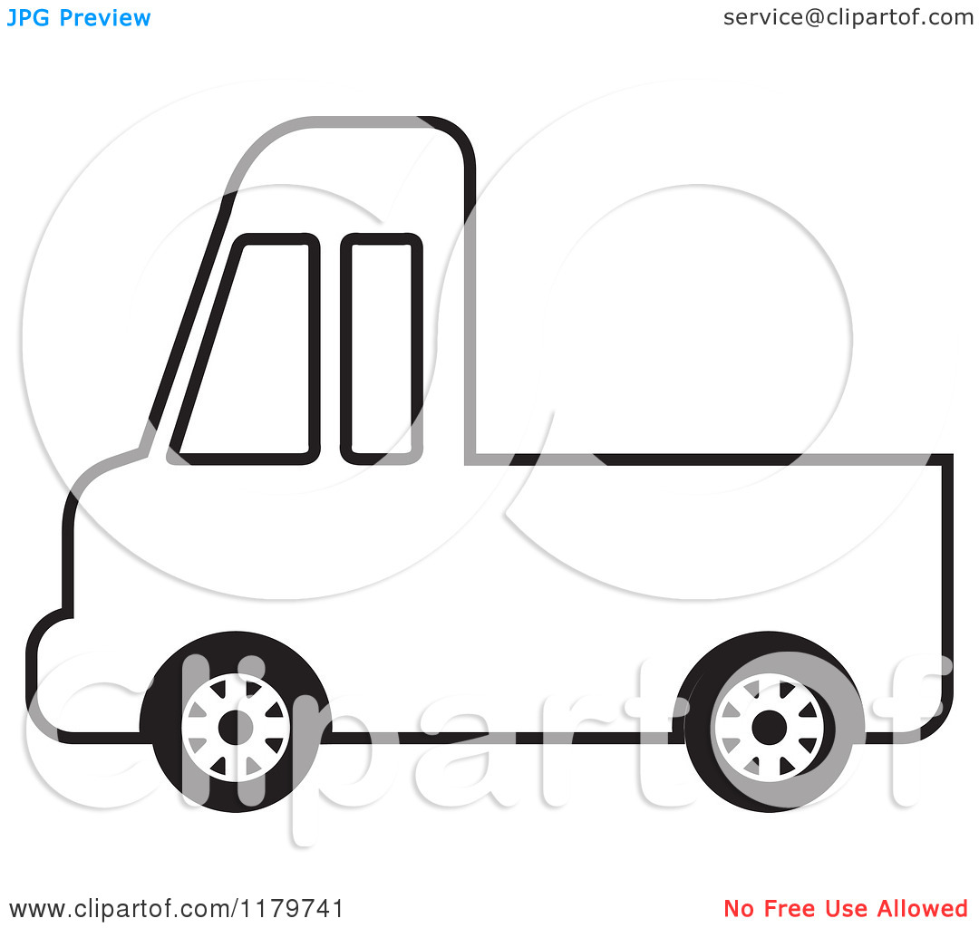 Pickup Truck Clipart Outline Clipart Panda