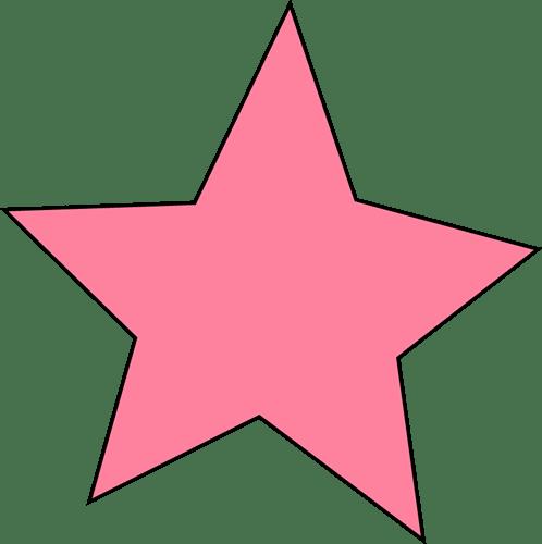 Image result for clip art pink star