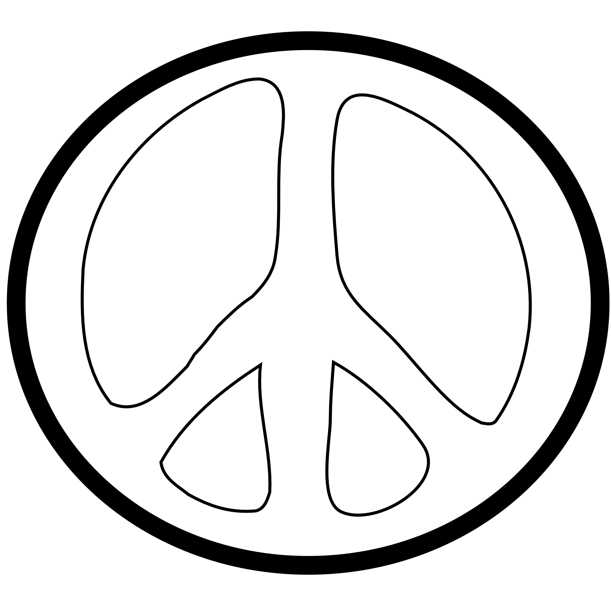 Pink Peace Sign Clipart Clipart Panda