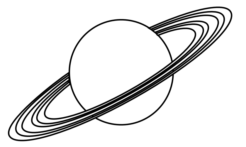 planet clipart black and white  clipart panda  free