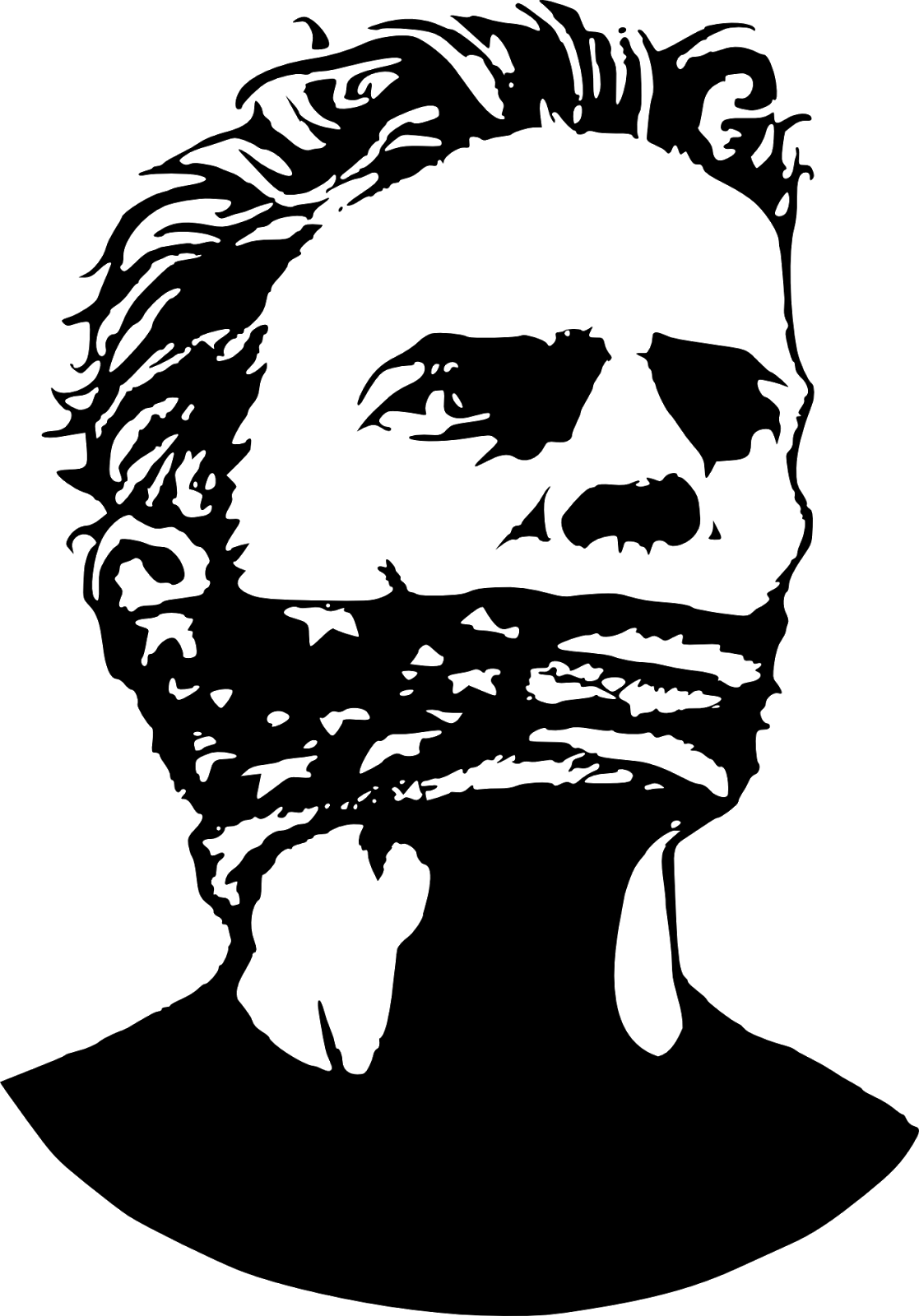 Image result for muzzled man