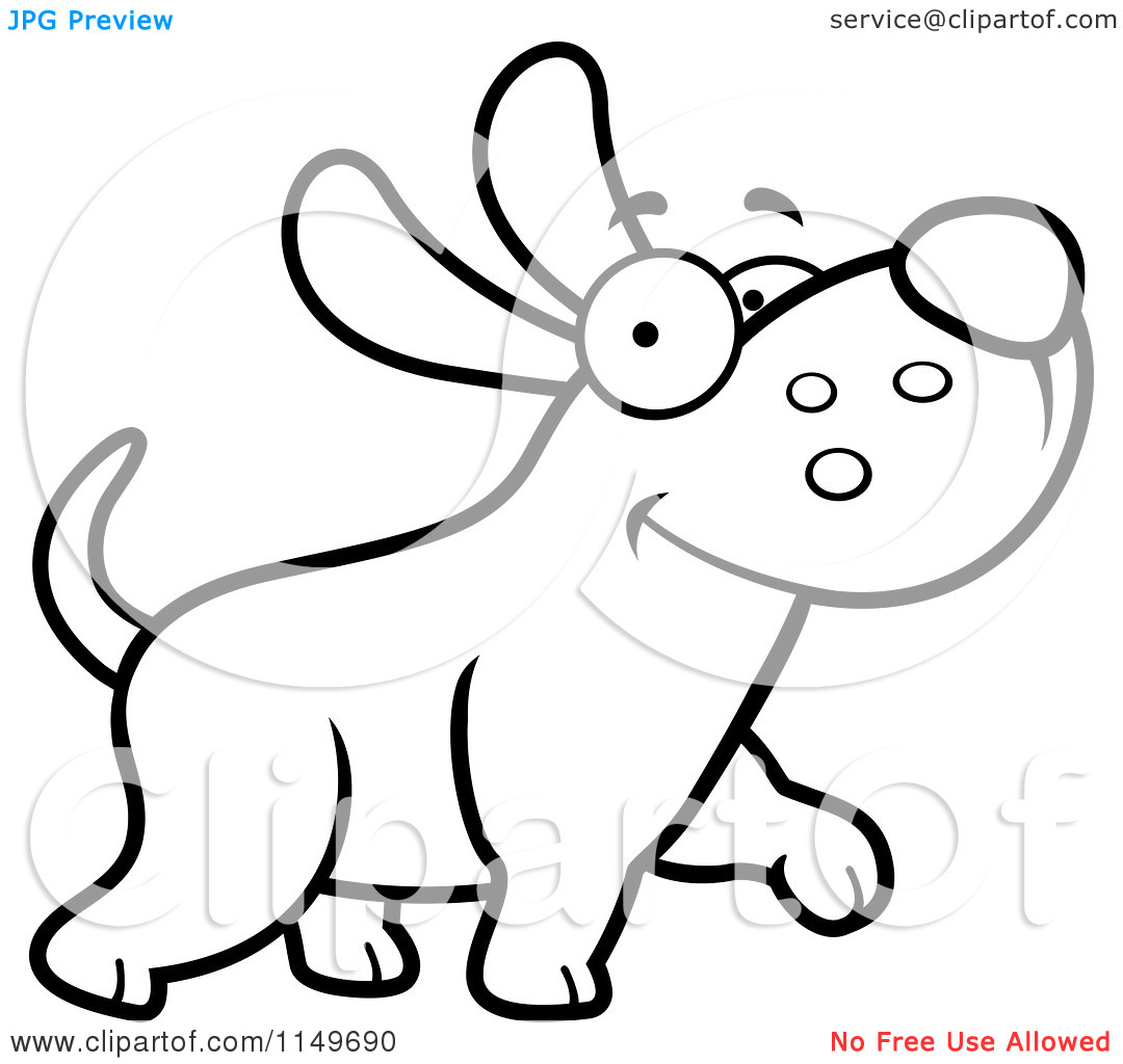 Puppy And Kitten Clipart Black And White