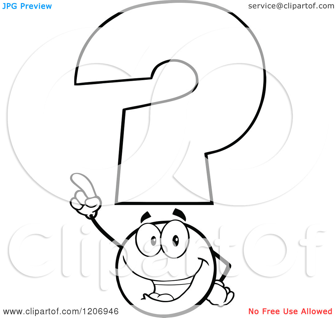 White Question Mark Mascot Clipart Panda