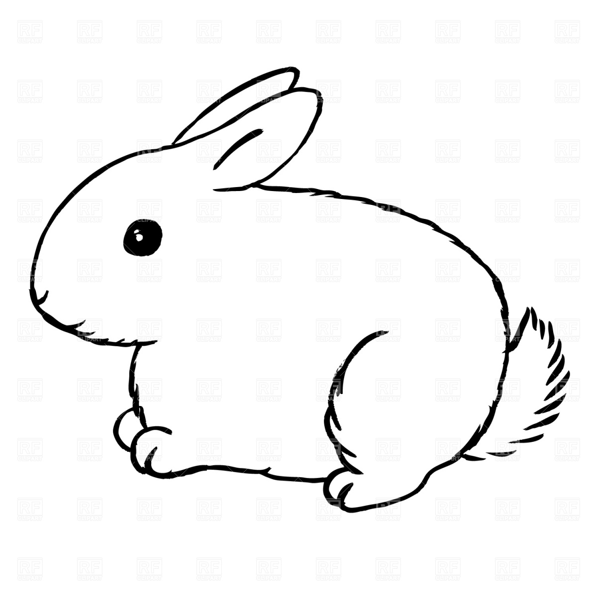 Rabbit Clipart Black And White Clipart Panda