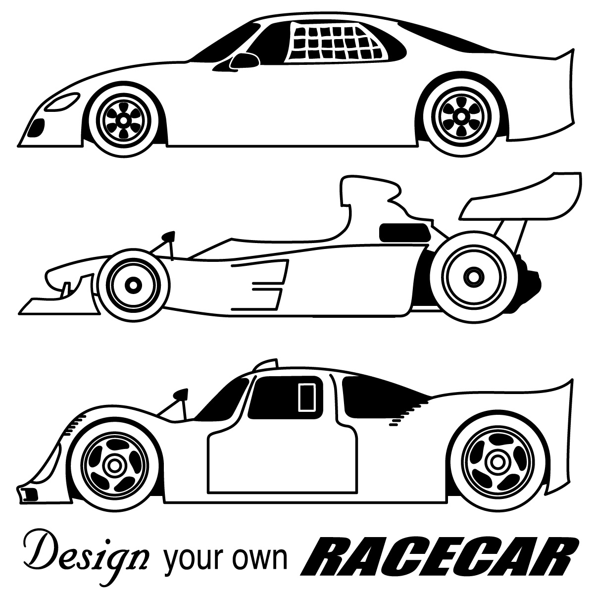 Race Car Clip Art Black And White Clipart Panda