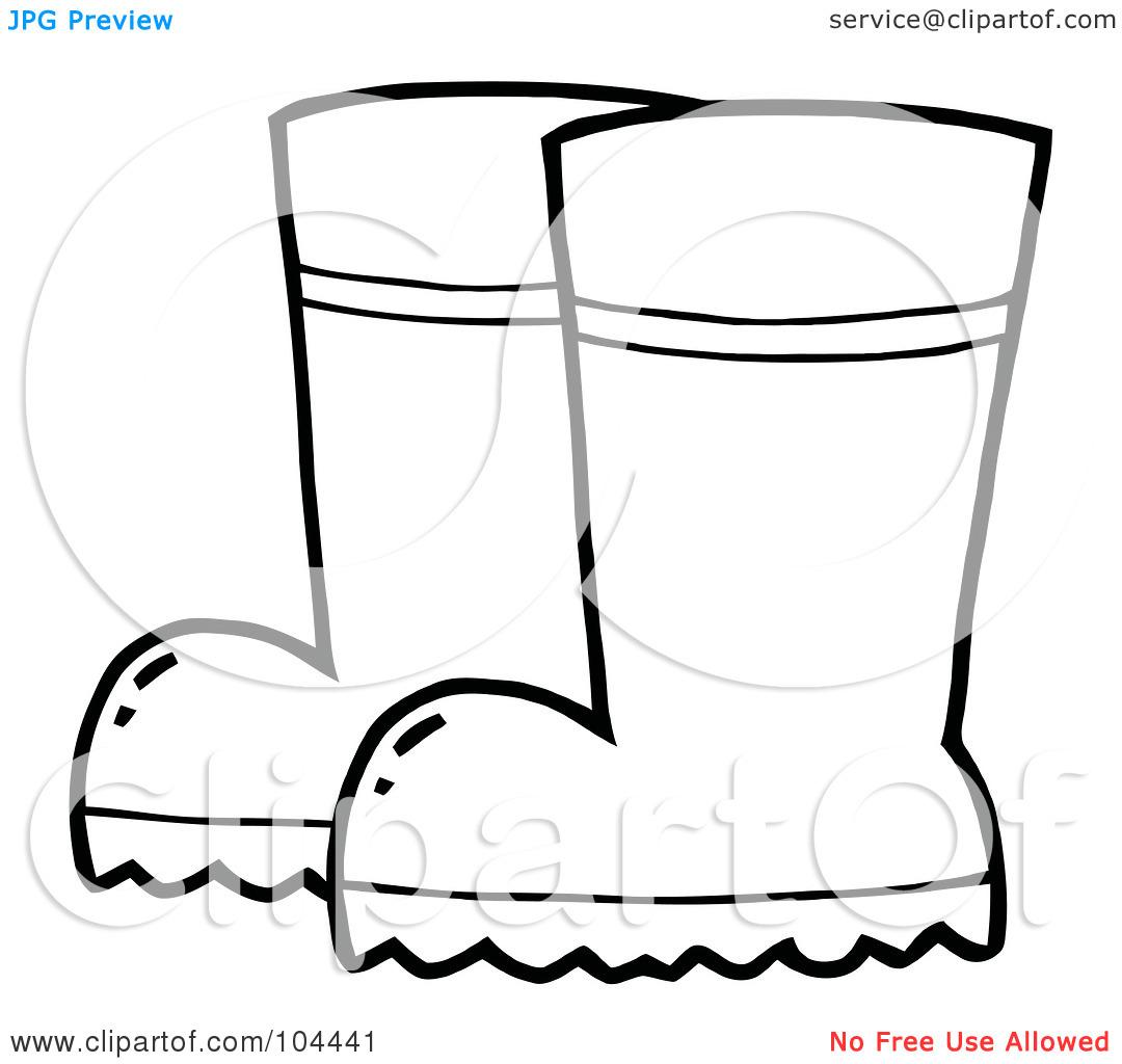 Rain Boots Clipart Black And White Clipart Panda