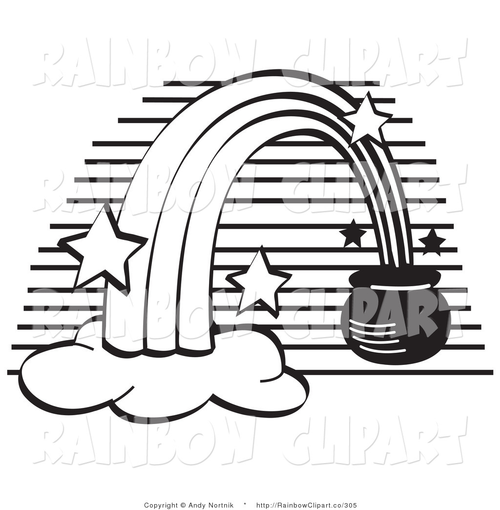 Rainbow Clip Art Black And White Cliparts