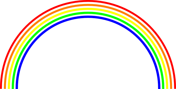Rainbow Outline Clip Art Black And White