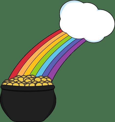 St Clip Rainbow Pot Patricks Art And Gold Day