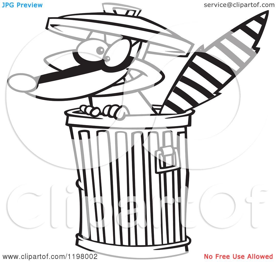 Cartoon Of An Outlined Rascal Clipart Panda