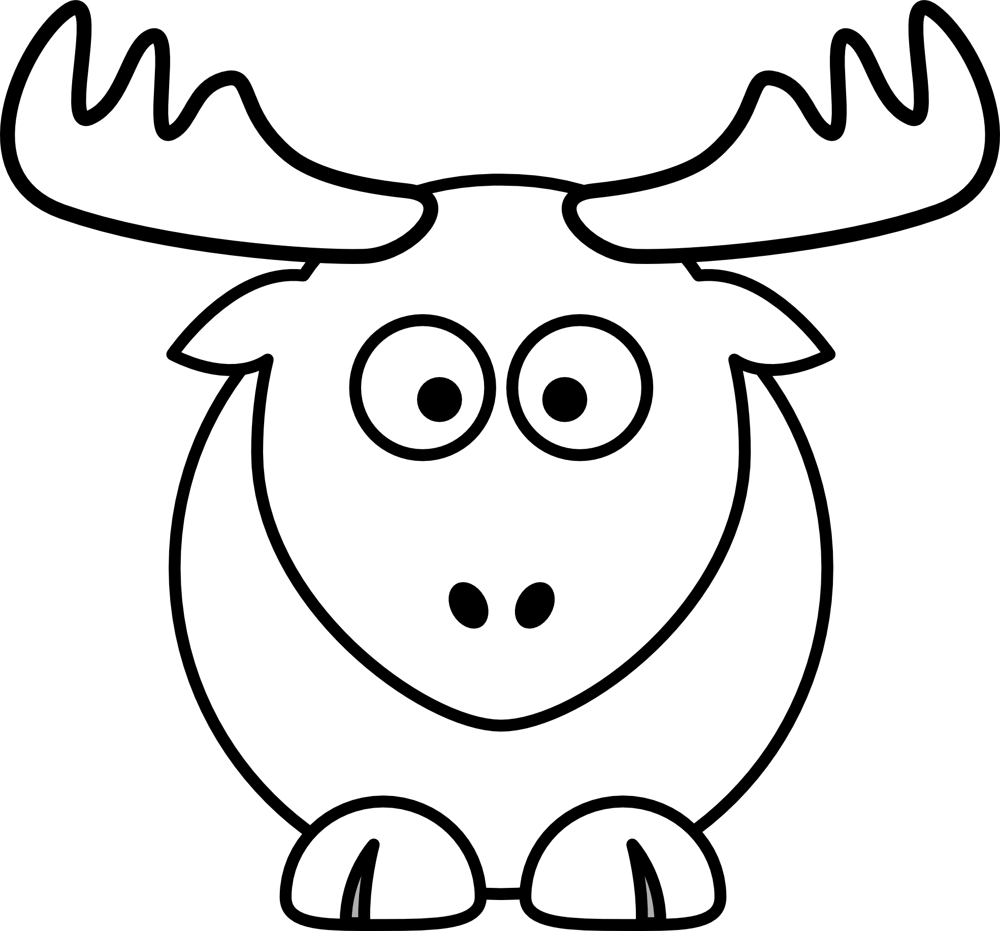 Reindeer Clipart Black And White Clipart Panda