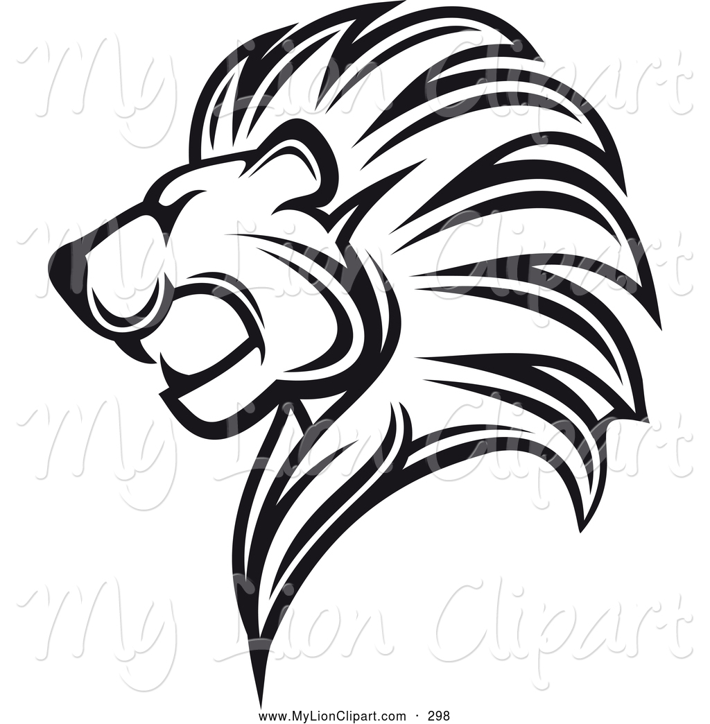 Lion Clip Art Black And White Clipart Panda