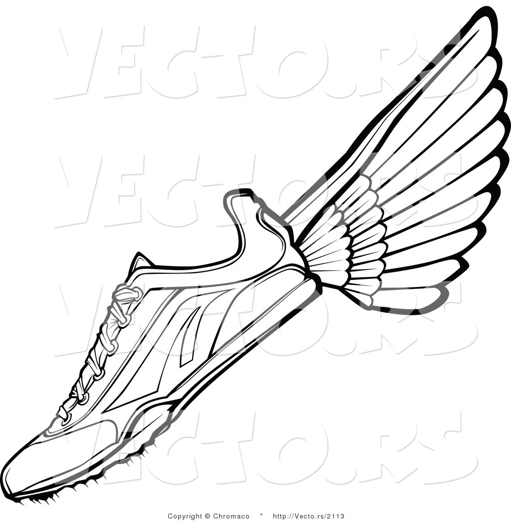 Vector Of A Running Shoe With Clipart Panda
