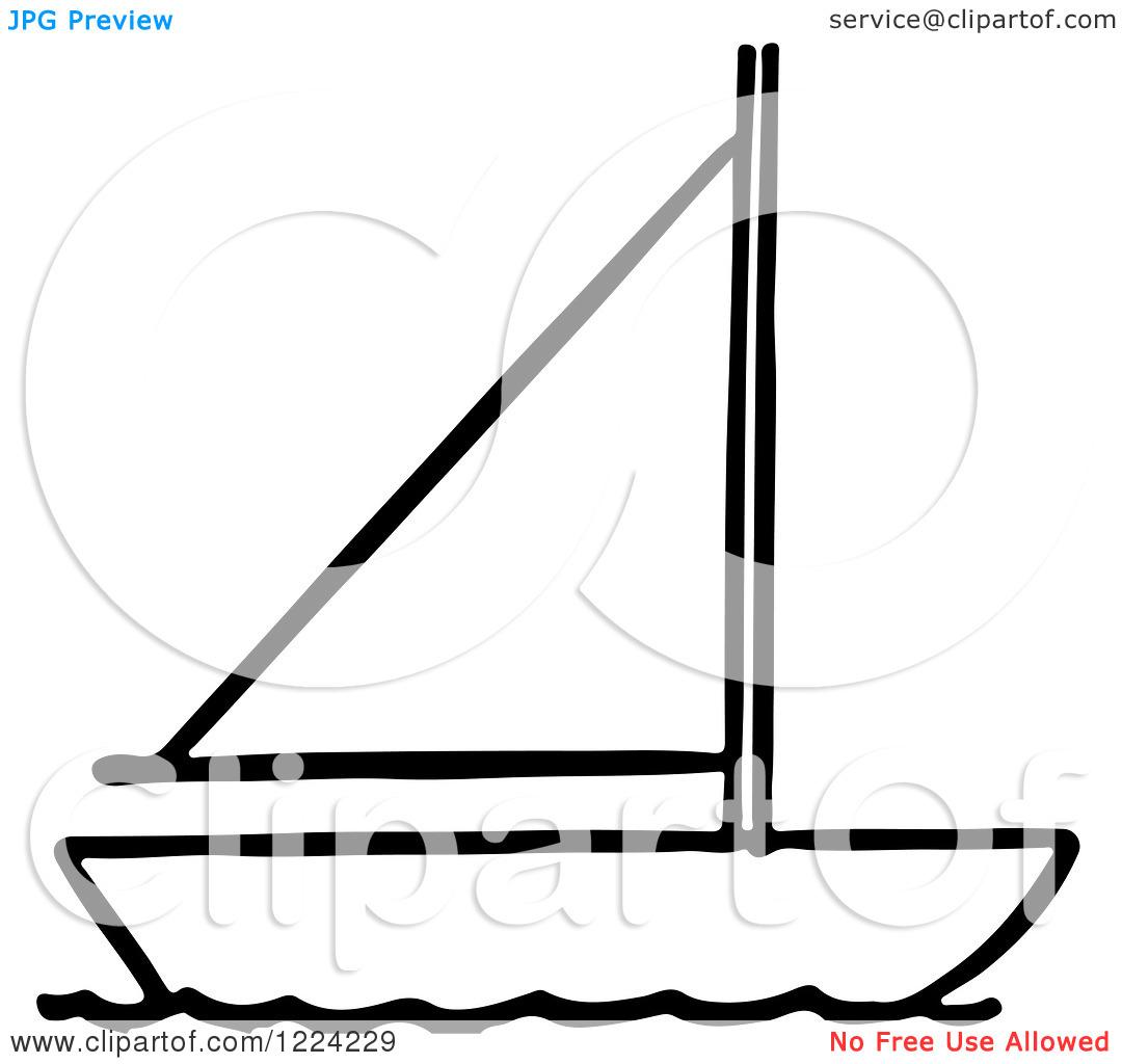 Sailboat Clip Art Black And White Clipart Panda