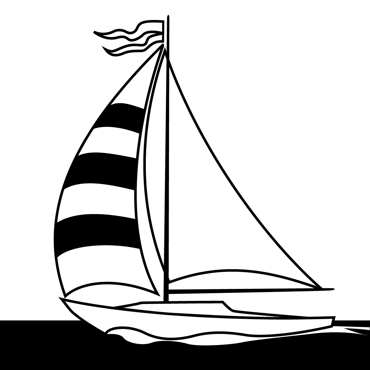 Sailboat Clip Art From Word Perfect Clipart Panda