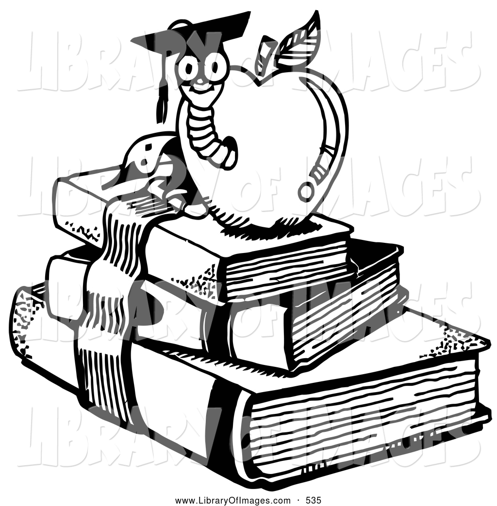 Stack Of Books Clip Art Black And White