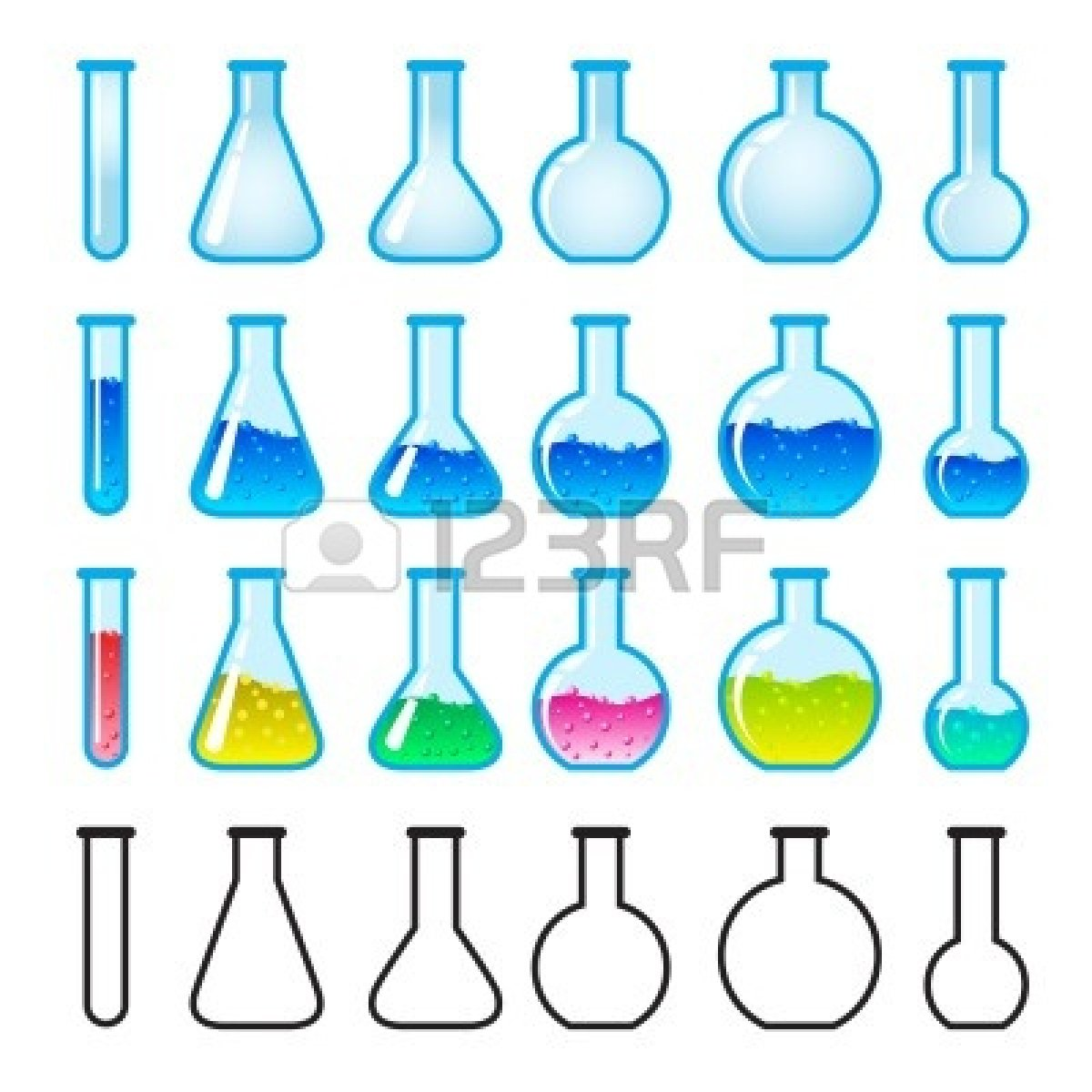 Chemistry Beaker Clipart Black And White Clipart Panda