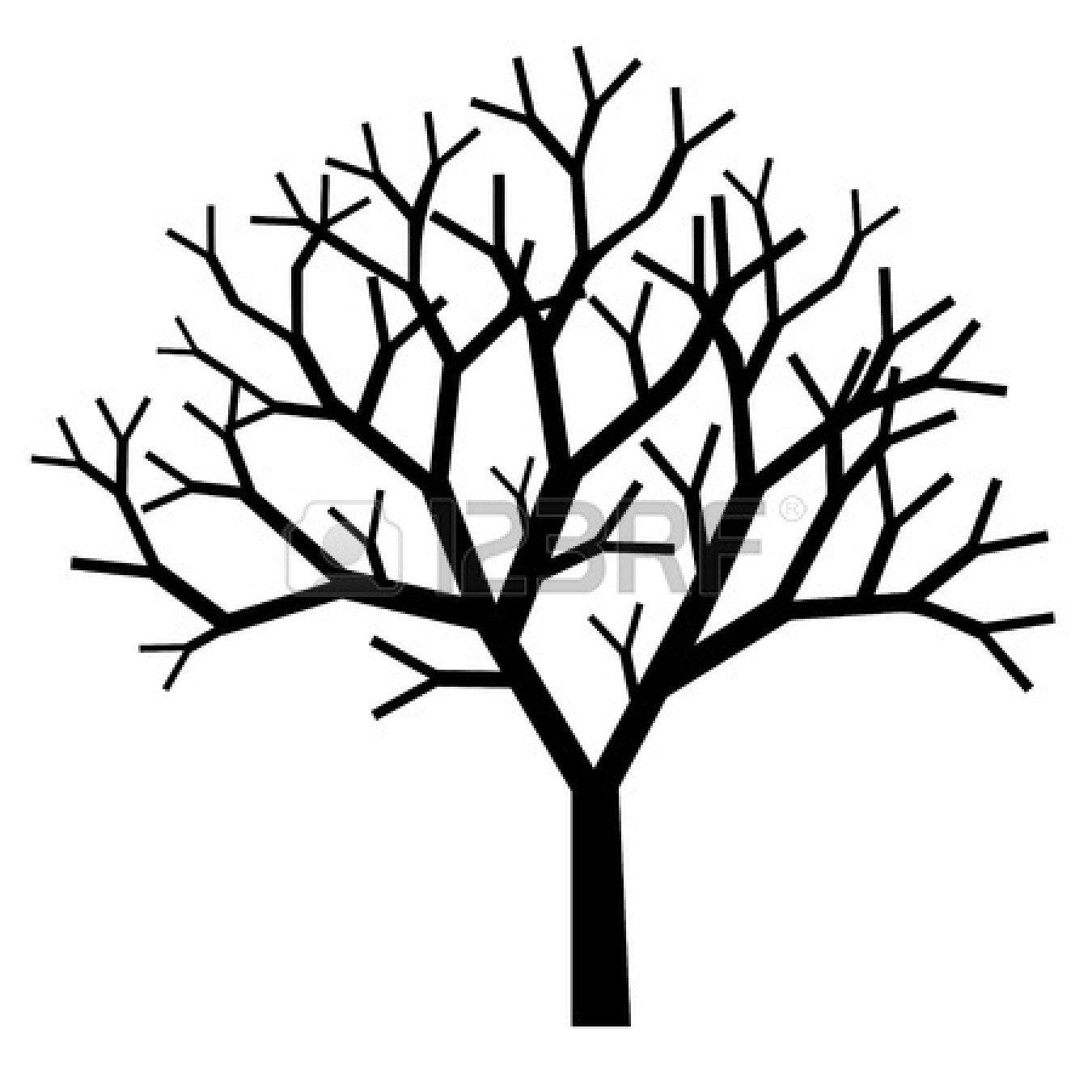 Simple Black And White Tree Branches
