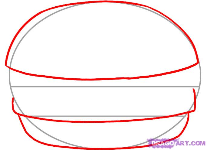 How To Draw A Hamburger Step 2 Clipart Panda Free Clipart Images